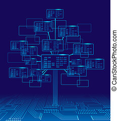 Binary tree - Tree consisting of blocks with binary codes....
