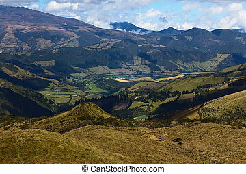 View From Mountain Pichincha in Quito, Ecuador - View to the...