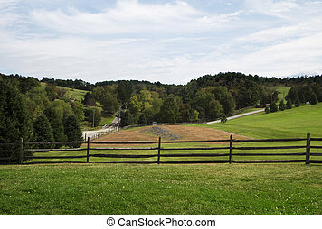 Rolling Hills - A late summer view of the field where the...
