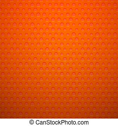 Red metal or plastic texture with holes, pattern background...