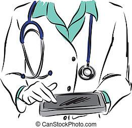 medical concepts 6 doctor illustration