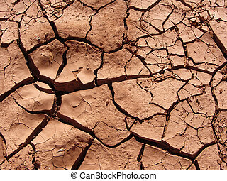 Cracked clay background