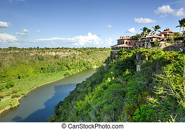 Chavon River, Dominican Republic - Tropical river Chavon in...