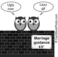 Marriage Guidance - Monochrome comical marriage guidance...
