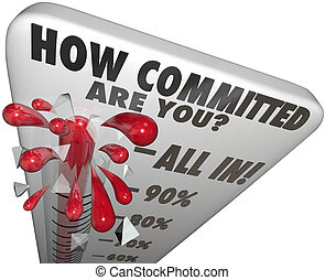 How Committed Are You Thermometer Measure Commitment Level -...