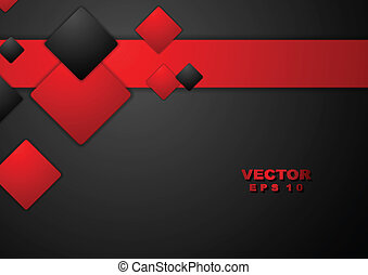 Abstract geometry tech background Vector design