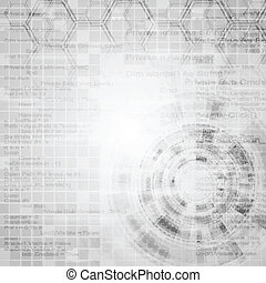 Abstract grey engineering tech background. Vector design