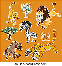Africa Animals & Trees Collection 1 - Collection Sets of...