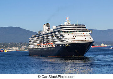 Luxury Cruise Ship - The Luxury Cruise Ship Sailing in Port