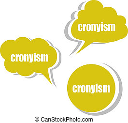 cronyism Set of stickers, labels, tags Template for...