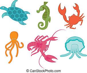 ocean creatures - six ocean creatures