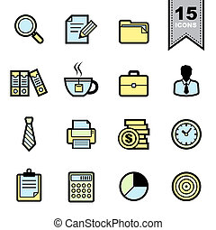 Office icons set.Illustration eps 10