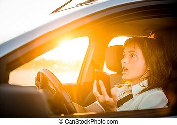Driving car with mobile phone