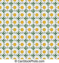 Design seamless colorful flower pattern. Chamomile...