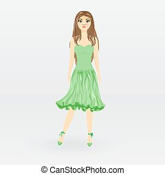 Image doll in green dress