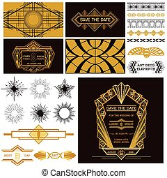 ART DECO OR GATSBY Party Set - for Wedding, Party...