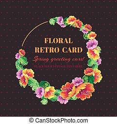 Vintage Floral Frame - with place for your text or photo - in vector