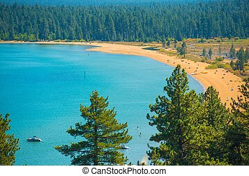 Lake Tahoe Beach - Southern Lake Tahoe Beach Scenery Lake...