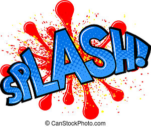 comic sound effect splash - vector illustration of a comic...