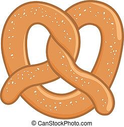 Pretzel - A pretzel on white background, isolated