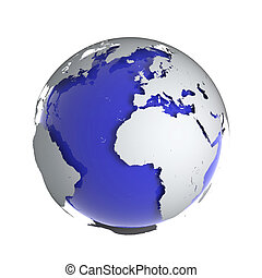 3d Globe of the Earth - 3d render of a globe of the Earth...