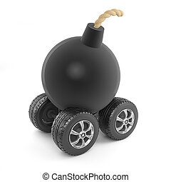 3d Bomb on wheels
