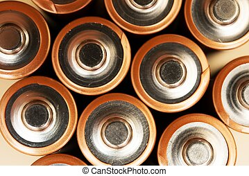 AA Batteries Top Clocseup - AA Batteries Top Closeup Photo....