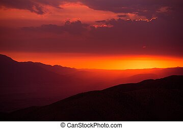 Scenic California Sunset. Coachella Valley Summer Sunset....