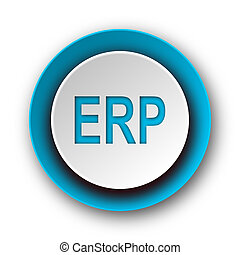 erp blue modern web icon on white background