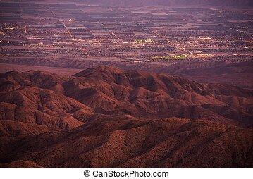 Coachella Valley at Dusk. California, United States. Thermal...