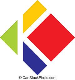 letter k - abstract letter k