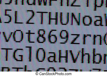 coded digital letters background  macro on tft monitor