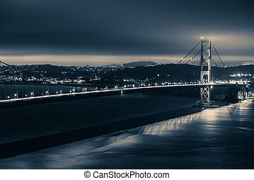 Golden Gate Night Theme. Golden Gate Bridge and San...