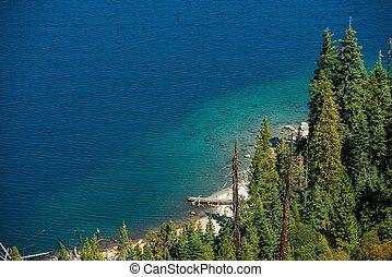 Lake Tahoe Bay Closeup Photo. Summer at the Scenic Lake...
