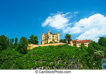 The castle of Hohenschwangau in Germany - The castle of...
