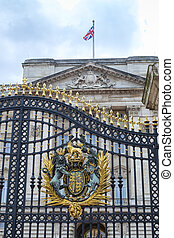 Buckingham Palace gates - Detail of Buckingham Palace gates...