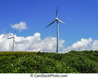 Wind power station in Yonaguni - Wind power station in...