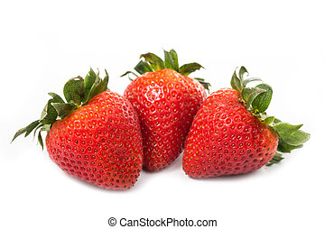Strawberries berry isolated with white background
