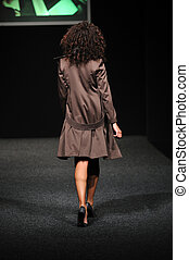 fashion show woman walk with style