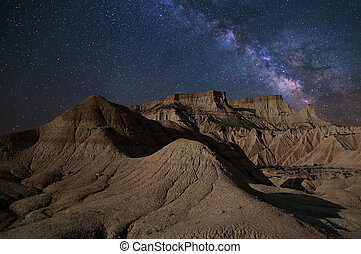 Milky Way Desert at night