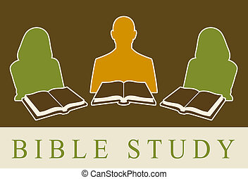 Bible Study - Abstract of people studying the Bible.