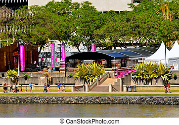South Bank Parklands - Brisbane Australia - BRISBANE, AUS -...