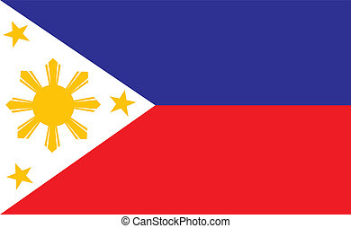 Philippines flag - original and simple Republic of The...