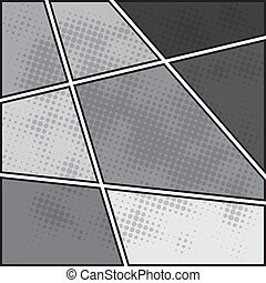 Comics popart style blank layout template background.