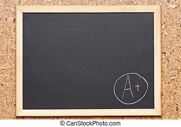Chalkboard - Back to school concept - Letter A on...