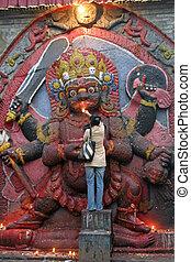 Kala Bhairava in Durbar square, Kathmandu, Nepal