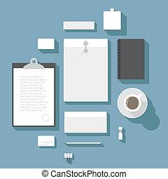 Corporate identity mock-up - Flat design corporate identity...