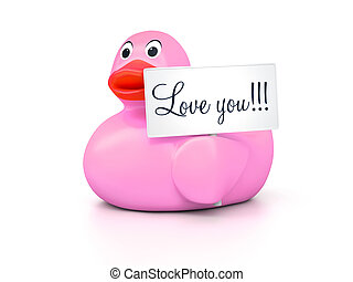 Rubber Ducky Love You - An image of a nice rubber duck with...