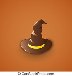 Witch's Hat Illustration, Graphic Concept For Your Design.