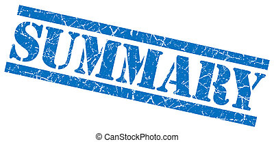 summary blue square grunge textured isolated stamp